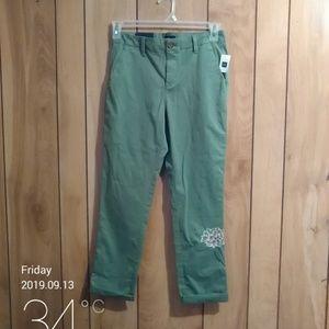Gap green khaki style pants